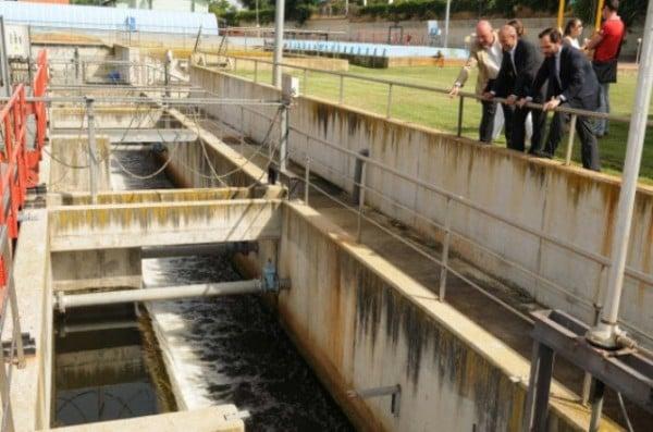 Obras en la depuradora de aguas residuales de la gavia for Depuradora aguas residuales