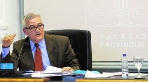 César Augusto Asencio, vicepresidente de la Diputación, durante un pleno de la corporación