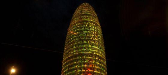 Imagen de la torre Agbar de Barcelona. / EFE