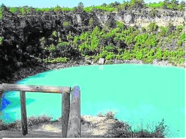 Aspecto de la laguna de Cañada de Hoyo en la Serranía de Cuenca