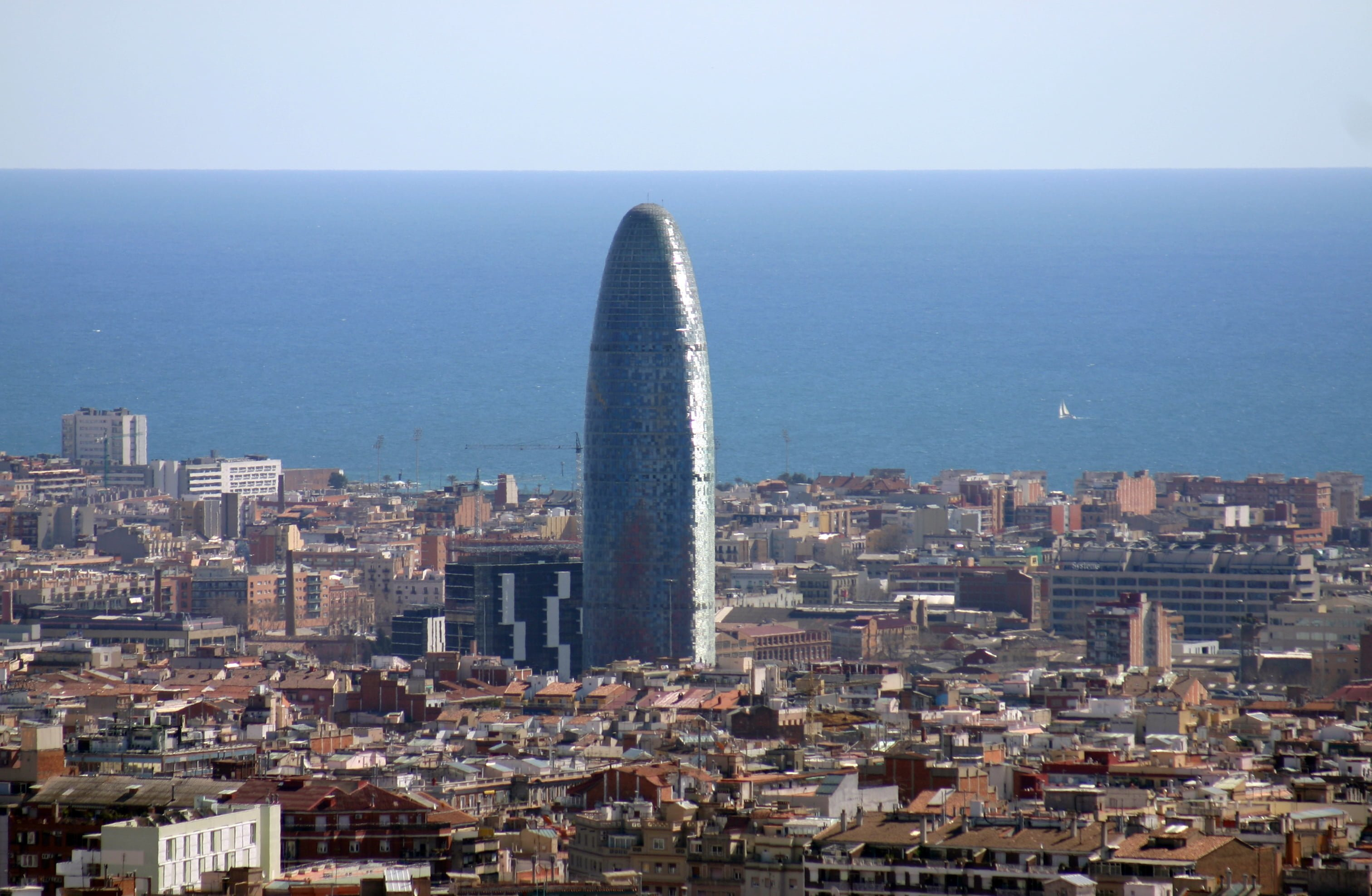 Spain.Catalonia.Barcelona.Vista.Torre.Agbar