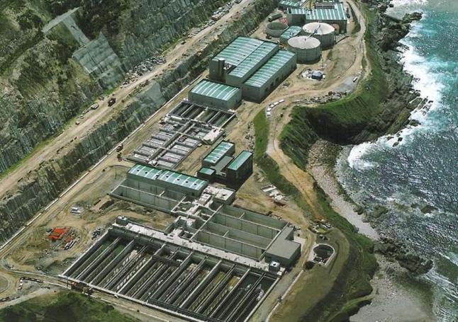 Vista aerea de la depuradora de Bens