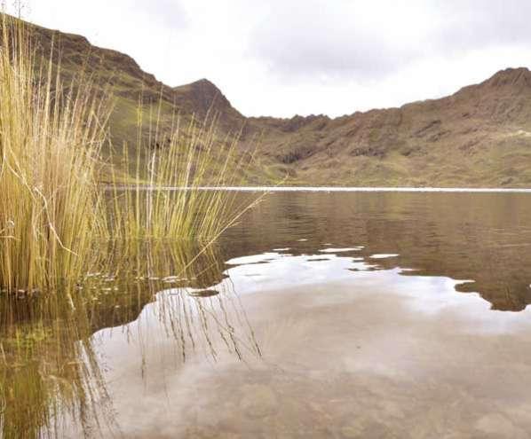 La represa de Wara Wara almacena más de dos millones de metros cúbicos de agua.