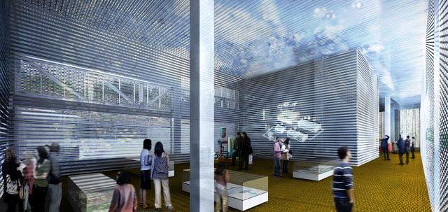 Interior Centro de Interpretación EDAR