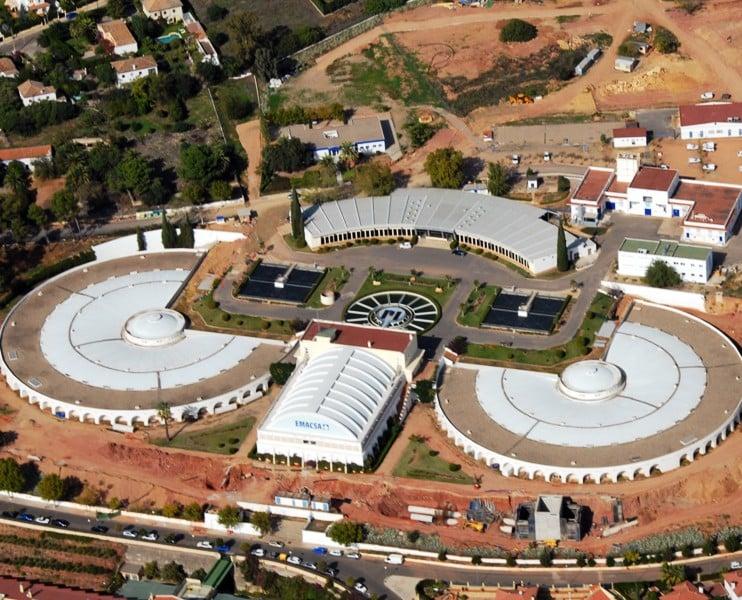 Vista aérea de la ETAP de Villa Azul