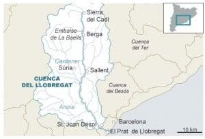 La cuenca del Llobregat.