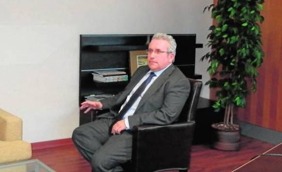 El director de la sociedad estatal Aguas de la Cuenca del Sur, Emilio del Pozo
