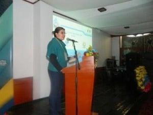 Nathaly-Burbano-coordinadora-de-la-Demarcación-Hidrográfica-de-Mira-durante-su-intervención.