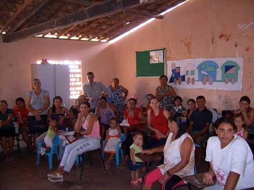 Reunión comunitaria en Alagoas, una de las comunidades receptoras de las cisternas