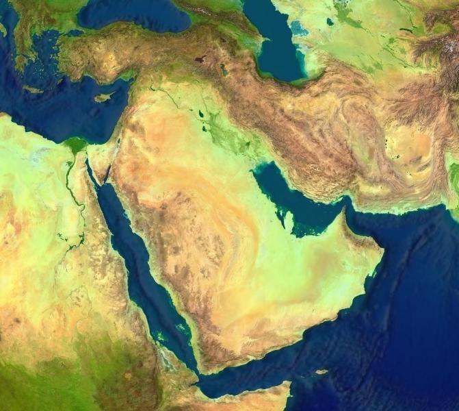 Mapa-del-Oriente-Medio-satelital