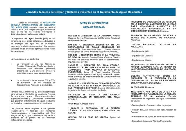 Programa Jornadas Técnicas Gestión Eficiente EDAR-2 013 CPAGUAS_Página_2