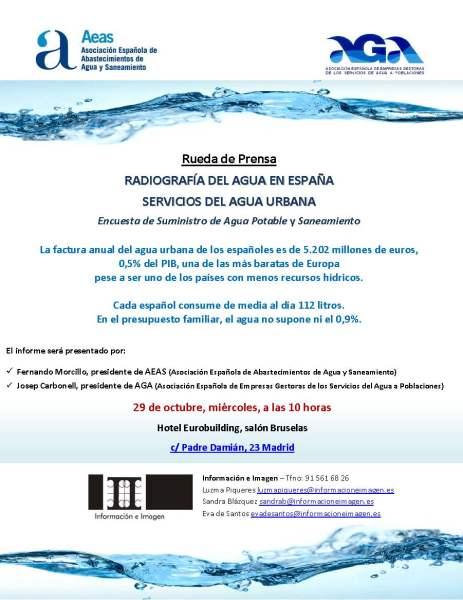 Convocatoria_Prensa_AEAS y AGA_Radiografía del Agua Urbana en España