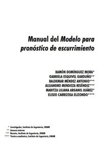 Manual Modelo Escorrentia UNAM