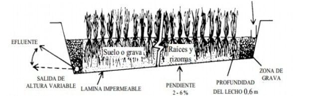 humedal flujo horizontal