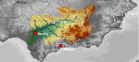 mapa-fisico-valle-del-guadalquivir