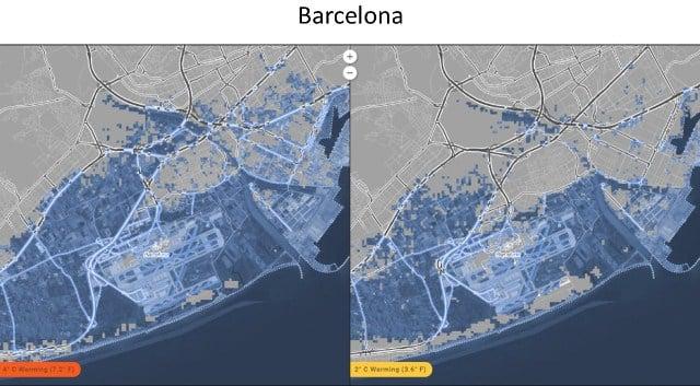 barcelona inundación deshielo