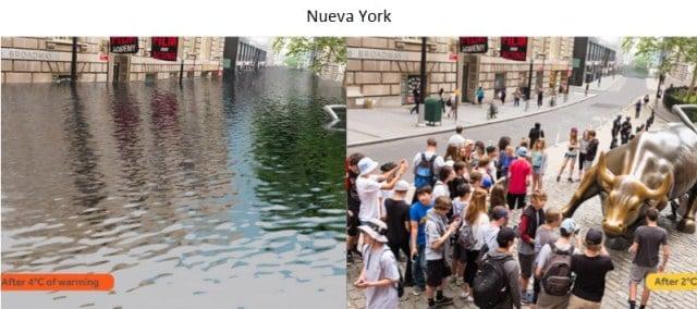 nueva york deshielo nivel del agua