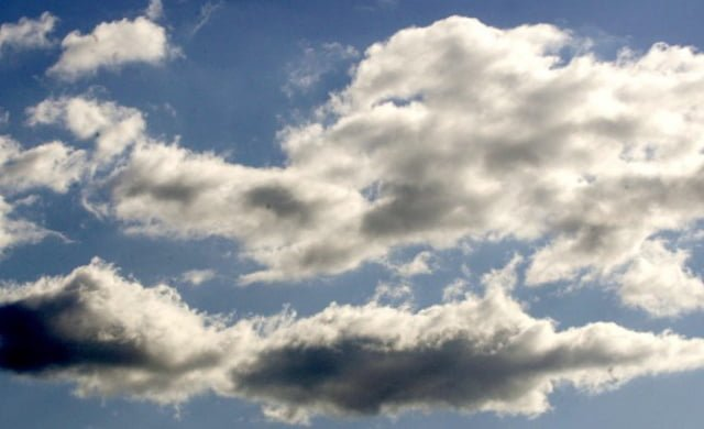 agua recogida de las nubes