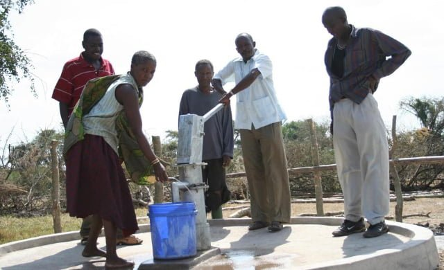 Un pozo construido por una ONG