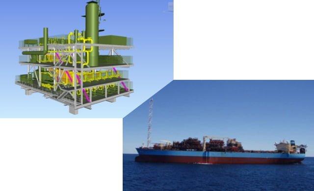 plataforma petrolera en alta mar de Woodside