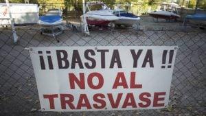 protesta contra trasvase